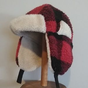 Old Navy Buffalo-Plaid Trapper Hat